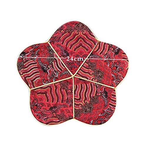 Goddness Bar Tapis de Plateau de thé en Tissu décoratif Coaster Retro Pad Tapis (Style 04)
