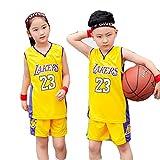 Ropa de Baloncesto para Niños y Niñas , Lebron James #23 Camiseta de Baloncesto para Hombres - NBA Lakers Camiseta de Jugador de Básquetbol Bordado, Chaleco De Gimnasia(Size: 3XS(80-90cm),Color:G6)