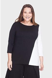 Blusa Recorte Bicolor Plus Size
