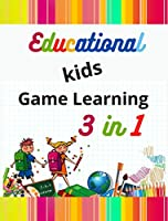 Educational kids Games Learning 3 in 1: Easy Connect the Dots Worksheets - Find The Difference - Labyrinth
