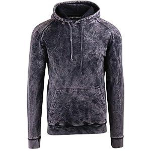 Women's Vintage Raglan Hoodie Sweatshirts Mineral Wash Distressed Look