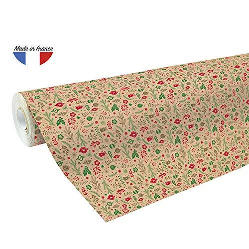 Clairefontaine Geometric Design Kraft Inpakpapier Kerstmis