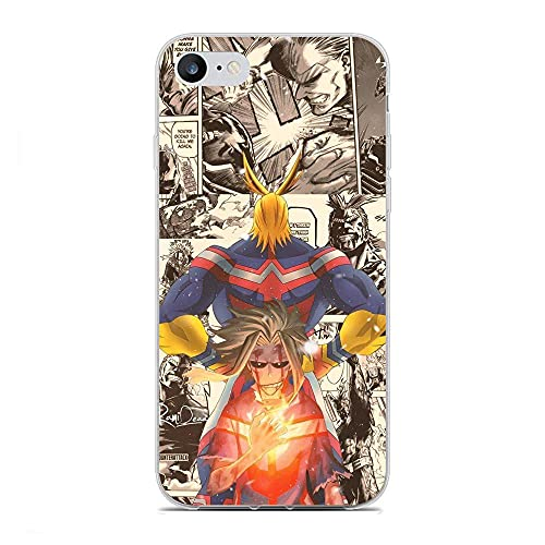 Yomanic Clear Coque Slim Soft Matte Durable Rubber Silicone TPU Fundas Fit Cover Case For Apple iPhone 7/8/SE 2020-My Hero-Academia Deku 8