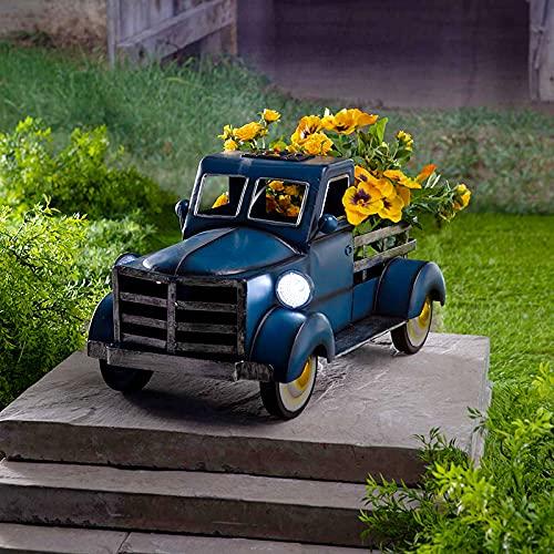 Aouln Macetas de jardín para coche, estilo retro, para camioneta, decoración de escritorio, decoración de jardín (30 cm x 18 cm x 18 cm)