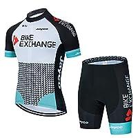 CiJan メンズ サイクルジャージ 上下セット 半袖 サイクルウェア ロードバイク 自転車ウェア サイクリングウェア 夏用 ツーリング時期吸汗 速乾 通気がいい (カラー : White-ノーマル, サイズ : X-Large)
