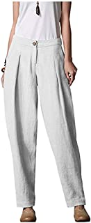 Kekebest Pants for Women Sexy Simple Casual Plus Size Comfort Straight Wide Leg Loose Striped Pocket Trousers Pants