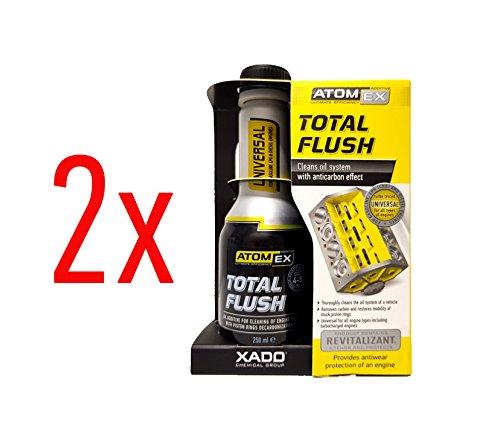 XADO Motorspoeling oliesysteemreiniger voor motoren - ATOMEX TotalFlush - set van 2