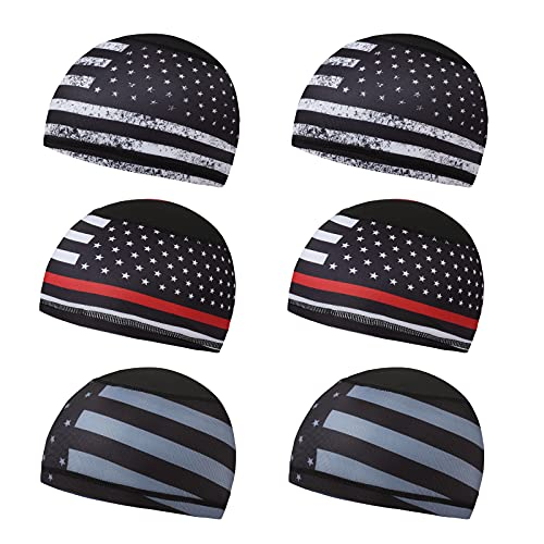Gegado Skull Cap Sweat Wicking Helm Liner Hard Hat Liner Radfahren Skull Caps für Damen und Herren - Schwarz - Einheitsgröße