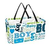 Bolsa de supermercado reutilizable Contenedores de almacenamiento grandes de 50L Cesta de compras Bolsas de asas Cartel para niño