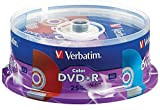 Verbatim Life Series DVD+R Spindle, Vibrant Color, Pack of 25