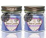 Romance Pack Valentines Jar Candles Scented Set of 2 - Soy Wax Blend- Fragrant, Romantic Rose & Lava Lovin' -Tropical Citrus- Best Romantic Gift Idea for Special Occasion - Made in USA