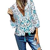 PiabigkaCamicia Donna Manica 3/4 Camicie Basic Camicetta Casual Shirt Camici Top Camicetta Camicia Donna Camicetta in Cotone Formale Elegante