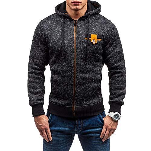 Homme Veste, Manadlian Chemisier Jacket de Sport à Capuche Sweats à Capuche Zipper Slim Hoodies pour Hommes Sweat-Shirts