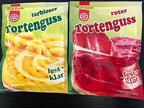 Tortenguss rot/farblos von Rotplombe 4´er Mix freie Auswahl