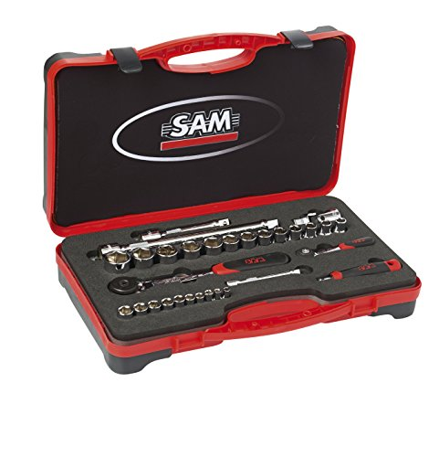 SAM Outillage 75-RS2Z Coffret douilles et accessoires 1/4\
