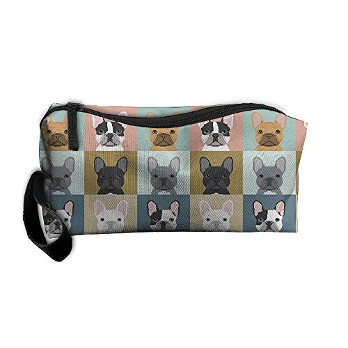 French Bulldog Dog Cute Multifunction Portable Make-up Mini Bag Makeup Bag Sewing Kit Medicine Bag Cosmetic Bag For Home Office Travel Camping Sport Gym Outdoor