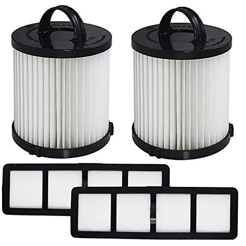 OxoxO Repuesto de filtro compatible con Eureka DCF-21 y EF-6 parte 67821, 68931, 69963 y 830911 Eureka Airspeed AS1000 Series Aspiradoras verticales HEPA filtro lavable y reutilizable (juego de 2)