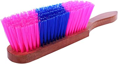 Malhotra's Wood Multipurpose Cleaning Duster Brush with Hard and Long Bristles (32 x 6 x 8 cm, Brown)