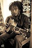 1art1 43912 Poster Bob Marley Sepia Guitare 91 X 61 cm