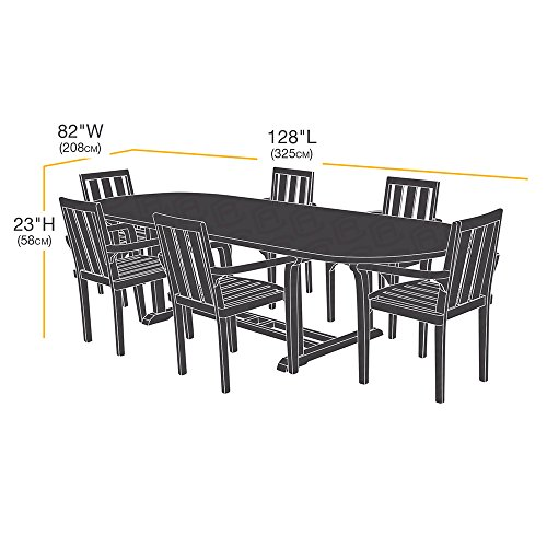 AmazonBasics XL Oval Rectangular Outdoor Patio Table and Chair Set Cover