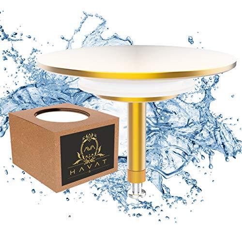 Havat innovativer Premium Badewannenstöpsel | Ø 72 mm für alle handelsüblichen Badewannen Abflüsse | Doppel Dichtung | Abfluss-Stopfen aus Messing mit Chrom Oberfläche | Rostfrei & Dicht