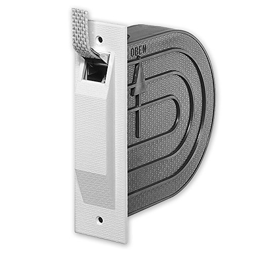 Mini-Einlass-Gurtwickler 'Nano', mit Mauerkasten, inkl. 5 m Gurt, Gurtbreite: 15 mm, Gurtfarbe: grau, Farbe Deckplatte: weiß, Lochabstand: 118 mm, Abmessungen: 142 x 112 x 42 mm, von EVEROXX