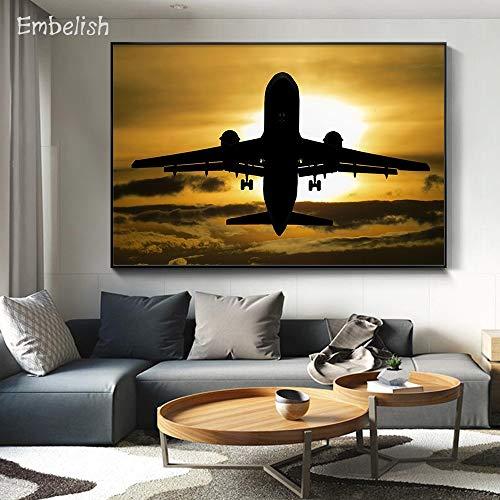 Leinwanddrucke Flugzeug Moderne Onhomewall Kunst Bild50x75cmRahmenlose Malerei