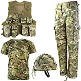 Kombat UK Armee-Set für Kinder, BTP, No1 9-10 Jahre British Terrain Pattern