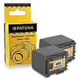 PATONA 2X Bateria BP-820 Compatible con Canon HF-G30 XA20 XA25 LEGRIA HF M300 M400 S1400