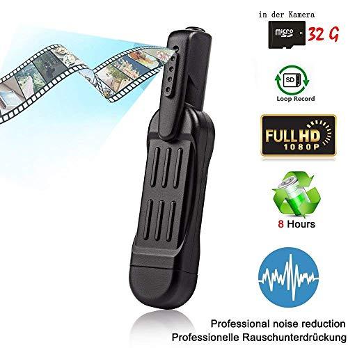 Hangang Mini Bolígrafo Cámara Oculta Espía, Video Cámara Grabadora de Vídeo HD Grabadora de Reunión Grabador Cámara de Video de Seguridad Videocámara con Deportes de Plein Air Portátil DV