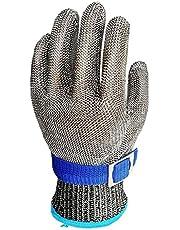 Stainless Steel Glove metalen gaas Slit Resistant Ademende Slachtvleessecties Vissen Veiligheid Glove L, Werkhandschoenen