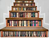 Pegatinas De Escaleravinilos Escaleras Vinilos Para Pared 1Set / 6 Unids Pegatinas Retro Bookshelf 3D Paso Decorativo Pasaje Pegatinas Pegatinas De Piso Etiquetas De Pared Autoadhesivas