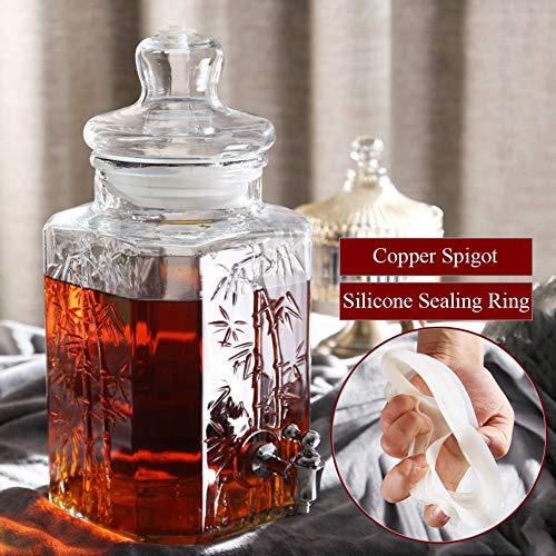 CSQHCZS-FQ Vintage drank toevoer, weckglas drank toevoer met roestvrij stalen tapen, voor limonade/thee/koud water ++