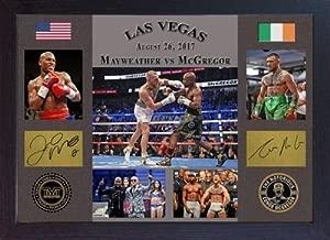 S&E DESING Conor McGregor vs Floyd Mayweather Jr Las Vegas 2017 TMT UFC MMA Signed Framed