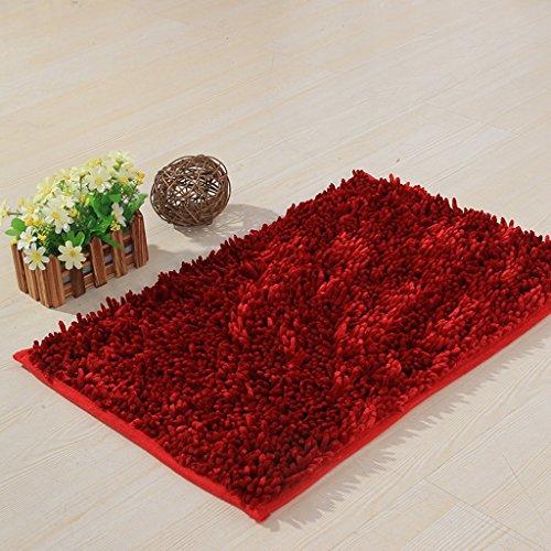 Chenille canapé-lit tapis de sol de chenille à quatre saisons A+ ( Couleur : Rouge , taille : 80*80cm )