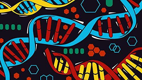 Zjxxm Erwachsenenpuzzle 1000 Teile Klassisches Puzzle Aus Holz Puzzles DNA Art Kind Geschenk Wohnkultur Modern Festival DIY Geschenk Intellektuelles Spiel-75X50Cm