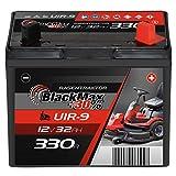BlackMax U1R (Pluspol rechts) +30% Garden Power Rasentraktor-Batterie 12V 32Ah 330A Starterbatterie...