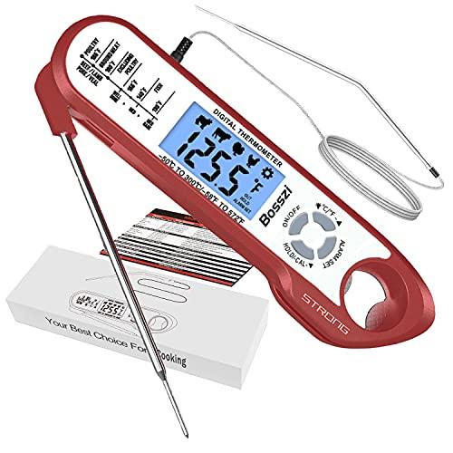 termometro cucina doppia sonda Bosszi Termometro per Carne a Doppia Sonda