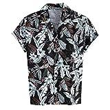 Camisas Hawaianas Hombre Manga Corta 2020 SHOBDW Playa de Verano Camisas Hombres Tallas Grandes Baratas Cuello de Solapa...