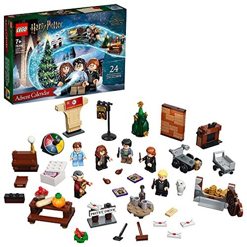 LEGO 76390 Harry Potter Le Calendrier de l'Avent 2021, Jouet et Cadeau Enfant dès 7 Ans, avec 6 Minifigures Harry Potter