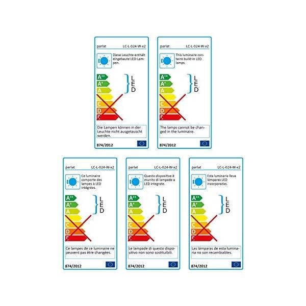 parlat-LED-Lese-LampeWand-Leuchte-Han-Schwanenhals-Chrom-Schalter-wei-2-STK