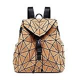 REBKW Mochila de corcho geométrico de diamante para estudiantes, bolsas de viaje para adolescentes (mochila grande, China)