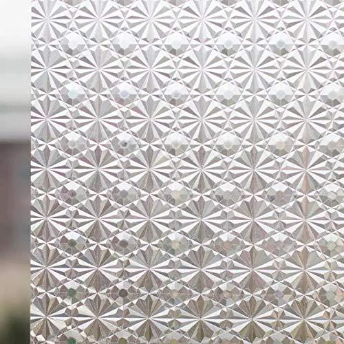 N / A 3D statische Fensteraufkleber Kristallglasfolie klebstofffreie Selbstklebende Folie UV-beständige Wärmeisolierung Bürohaus opake Privatsphäre dekorative Folie A2630x200cm