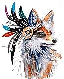 ZXDA Pittura Senza Cornice con Numeri Animali su Tela Immagini con Numeri Decorazione Domestica Minimalismo Fai-da-Te Stile A2 40x50cm