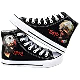Telacos Tokyo Ghoul Anime Kaneki Ken Cosplay Shoes Canvas Shoes Sneakers Black/White