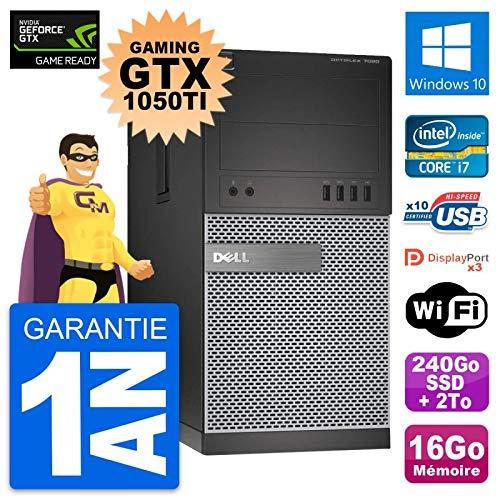 Dell PC Tour 7020 Gaming GTX 1050Ti i7-4790 RAM 16Go 240Go SSD+2To Windows 10 (Reconditioned)