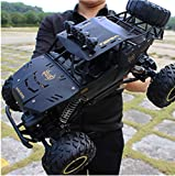 Midress 4X4 RC Rock Crawler RC Cars Waterproof, 2.4Ghz Road Monster Trucks Excitement in Water and Mud 40 Km/h High Speed Remote Control Car Hobby Car for Kids Adults (Black)
