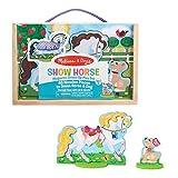 Melissa & Doug Show Horse and Dog Magnetic Dress- Wooden Figures Pretend Play Set (52 pcs)