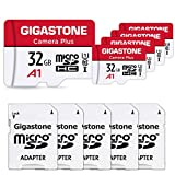 Gigastone 32GB 5-Pack Micro SD Card, Camera Plus, High Speed 90MB/s, Full HD Video Recording, Micro SDHC UHS-I A1 Class 10