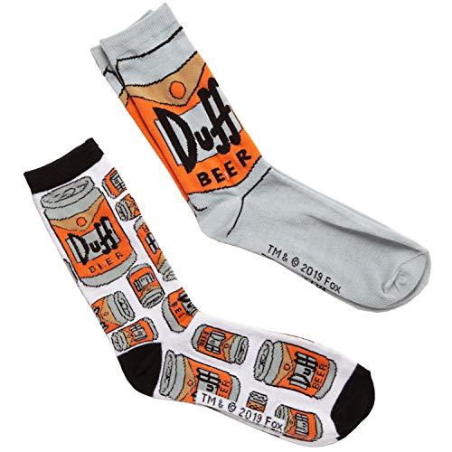 The Simpsons Duff Logo Tossed Herren 2er Pack Crew Socken